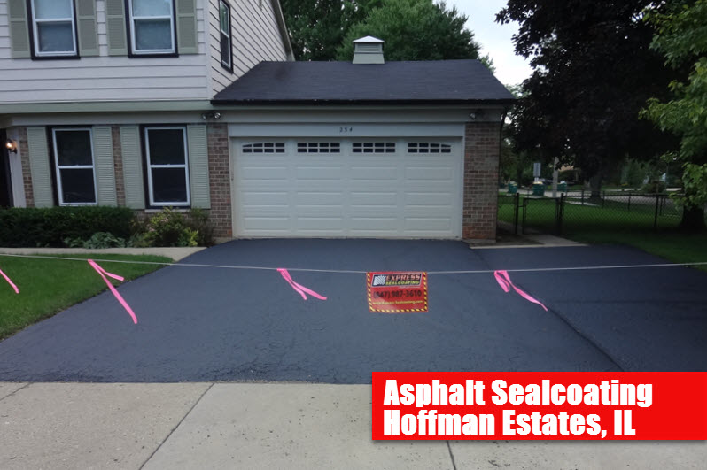 Express Asphalt Sealcoating Hoffman Estates Il Driveway Seal Coating