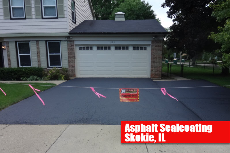 Express Asphalt Sealcoating Skokie Il Driveway Seal Coating